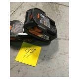 (1) RIDGID 12-Volt HYPER Lithium-Ion Battery Pack 4.0Ah & (1) RIDGID 18-Volt HYPER Lithium-Ion Battery Pack 2.0Ah in good condition