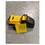 (1)DEWALT XR Battery Pack 4Ah & (1) DEWALT 20-Volt Batteries 1.5Ah in good condition