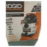 RIDGID 10 Gal. 6.0 Peak HP Stainless Wet Dry Vac in good condition