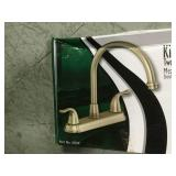 EZ-FLO Impression Collection 2-Handle Standard Kitchen Faucet in Brushed Nickel in good condition