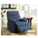 Blue Microfiber Recliner not used