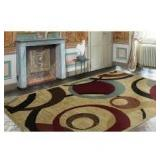 Ottomanson Contemporary Abstract Beige 8 ft. x 10 ft. Area Rug not used