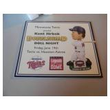 """KENT HRBEK """"LEGENDS OF THE DOME"""" BOBBLEHEAD! - WITH CERT! NEW IN BOX! - SEE PICTURES!"""