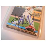 KENT HRBEK MINNESOTA TWINS 1987 & 1991 World Series - AUTOGRAPHED BASEBALL CARD! - AWESOME PIECE! - SEE PICTURES!
