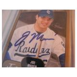 JOE MAUER MINNESOTA TWINS AUTOGRAPHED BASEBALL CARD! - AWESOME GREAT GREAT PIECE! - SEE PICTURES!