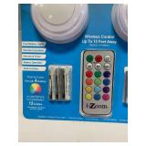 Wireless Color Changing LED 2 Pack Puck Lights & EZ Key Night Light