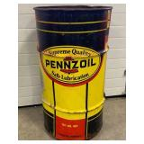"Vintage Pennzoil ""Safe Lubrication"" 16 Gallon Oil Can 27"" Tall"