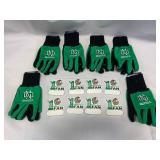 Lot of 8 UND Fighting Sioux Magnets & 6 Pair UND Gloves