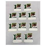 Lot of 10 NDSU Bison #1 Fan Magnets
