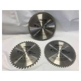 """Lot of 3 Carbide Tipped 10"""" Blades"""