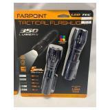 Lot of 2 (4 total) 350 Lumen Tactical Flashlight