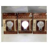 Lot of 3 Portable Wireless Light Bulbs (batteries included)