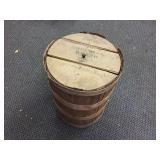 Vintage Wood Coffee Barrel With Lid