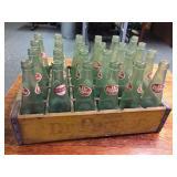 Wood Dr Pepper Tote Full of Bottles