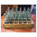 Wood Coke Tote & Bottles