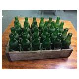 Wood Tote Full Of Sunny Day Soda Bottles