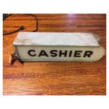 Vintage Cashier Sign