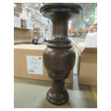2 Brown Pedestals For Table(s) And the Do It Yourselfer