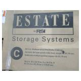 ESTATE by RSI 38.5-in W Wood Composite Freestanding Utility Storage Cabinet ESM3970SW - Missing B2 (RH Side Panel)