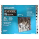1 Case (7 boards/case) of Everbilt 16 in. x 16 in. Galvanized Pegboard with Diamond Plating, 24305