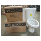 Briggs Holton 2-Piece 1.28 GPF High Efficiency Single Flush Elongated Toilet in White, 4057 - NEW IN BOX!