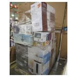 WHOLESALE MIXED PALLET OF RETURNS - AIR CONDITIONERS, REFRIGERATOR, LIGHTING AND MORE!