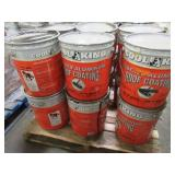 6 Containers of COOL KING FIBERED ALUMINUM ROOF COATING.