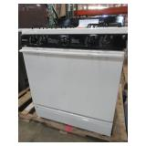GE 30 in Hotpoint Freestanding Gas Range in Bisque, RGB508PEF2CT - Dents/Scratches on LH Side Panel and Range Top
