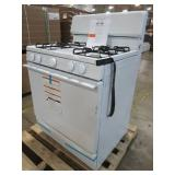 GE 30 in Hotpoint Freestanding Gas Range in White, RGB525DEH3WW - Dents/Scratches on Back of Range Top Hinged Area, Slight Ding on Back RH Side Panel