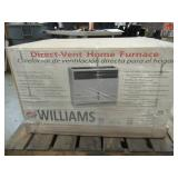 WILLIAMS COMFORT PRODUCTS 2203822 Gas Wall Furnace,Direct,NG,22000 BtuH - New in Box