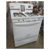 "Amana 30"" Amana Freestanding Gas Range in White - AGR4230BAW0 - Some Scratches/dents, Missing 3 Knobs and Broiler Pan."