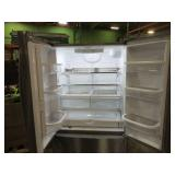 Whirlpool 25.2-cu ft French Door Refrigerator with Ice Maker (Fingerprint-Resistant Stainless Steel) ENERGY STAR WRF535SWHZ - Slightly Used - Missing Parts