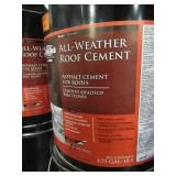 7 Containers of BLACK JACK 4.75-Gallon Fibered Waterproofer Cement Roof Sealant 6230-9-30.