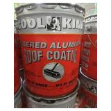 7 Containers of COOL KING FIBERED ALUMINUM ROOF COATING