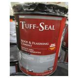 5 Containers of Black Jack Tuff-Seal Gloss Black Asphalt Roof & Flashing Cement - 4.75 Gallons, 1618628