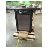 allen + roth 38-in W 40000-BTU Brown Tabletop Steel Propane Gas Fire Table FG-BKV32CHFP