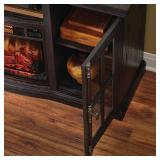 Home Decorators Collection Manor Place 67 in. TV Stand w/ Bluetooth Electric Fireplace in Ash Black, BSF-1761-BK - NEW IN BOX