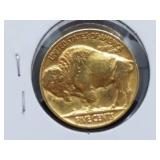 1937 Buffalo Nickel Gold Plated Extra Fine