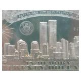 20 dollar Republic of Liberia September 11th Coin Certificate