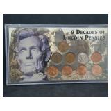 9 Decades of Lincoln Pennies
