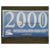 2000 Uncirculated Coin set Mint P