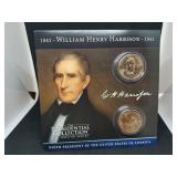 William Henry Harrison Presidential Collector Card & Coin