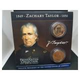 Zachary Taylor Presidential Collector Card & Coin