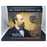 James Garfield Presidential Coin Collection and Coin