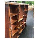 Exceptional Solid LIVE EDGE Black Walnut Wall Unit Display Cabinet