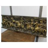 LARGE Vintage Mid Century 1967 Signed J. SEGURA Roman Soldier Deep Relief Wall Sculpture