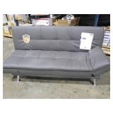 NEW - Nelson Grey Convertible Sofa