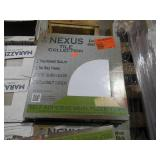 Achim Nexus White & Black 12x12 Self Adhesive Vinyl Floor Tile - 620 s.f