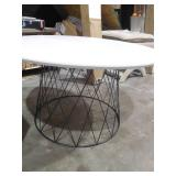 Roe Retro Mid Century Lacquer White Coffee Table by  Safavieh