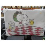 Snoopy With Eggnog 36×24 Inch Canvas Art